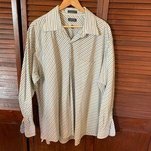 Arrow Long Sleeve Striped Button Down Dress Shirt